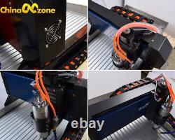 Steel Structure CNC 6040 3/4 Axis 2.2KW Engraver Router Carving Milling Machine