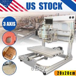 US 3-Axis DIY CNC Router Engraver PCB PVC Wood Milling Carving Engraving Machine