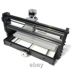 US DIY CNC Router Kit Wood Carving Engraving Milling+Offline+5500mW Laser 3 Axis