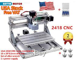 US Stock3 Axis CNC2418 Router USB Port Wood PCB Milling DIY Mini Laser Machine