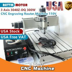 US3 Axis CNC LPT 3040Z-DQ 300W DC Spindle Milling Drilling Router Machine 110V