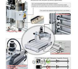 USA 4 Axis 6040Z-2200W 2.2KW ER20 CNC Router Mill Drill Engraving Machine 110V