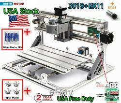 USA3 Axis 3018 DIY CNC Router Laser Engraving Machine Cutter Wood Milling+ER11
