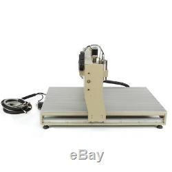 USB 1500W 6090 4 Axis CNC Router Engraver 3D Wood Engraving Cutting Mill Machine