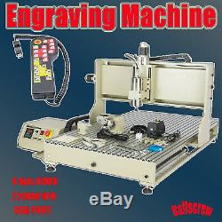 USB 2.2KW 4Axis CNC Router Engraver Engraving 6090 Milling Carving Machine + RC