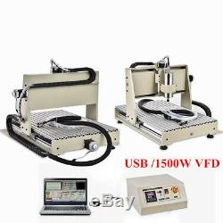 USB 3 AXIS CNC6040 Router ENGRAVER MACHINE MILL DRILLING CUTTER 1.5KW DESKTOP US