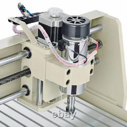 USB 3 Axis CNC 3040 Router Engraver Drilling Milling 3D Carver Machine 400W +RC