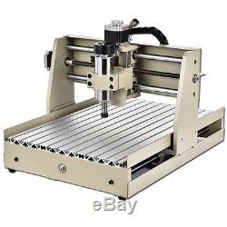 USB 3040T CNC Router 4 AXIS Engraver Milling Machine Cutting 3D Cutter 400W