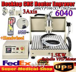 USB 3Axis CNC 6040 Router Engraver Drill/Milling Engraving Machine&Cooler+Remote