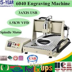 USB 3axis 1.5KW CNC 6040 Router Engraving Drill/Milling Machine Cutter Engraver