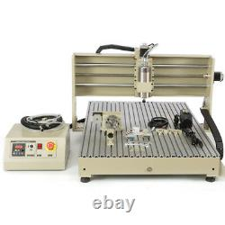 USB 4 Axis 1.5KW CNC 6090 Router 3D Engraver Metal Steel Milling Cutting Machine