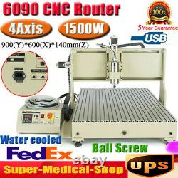USB 4 Axis 1.5KW CNC 6090 Router Engraver 3D Metal Steel Milling Cutting Machine