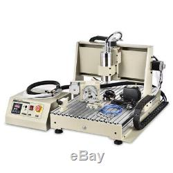 USB 4 Axis 1.5KW VFD CNC 6040T Router Engraver Metal Mill Drill Machine 110/220V