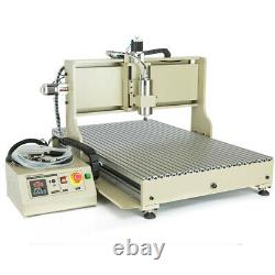 USB 4 Axis 1500W CNC 6090 Router Engraving Cutting Metal Milling Machine USED