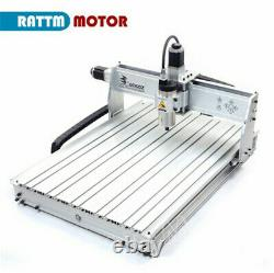 USB 4 Axis 8060z-2200w 2.2KW VFD cnc router engraving milling machine mach3+MPG