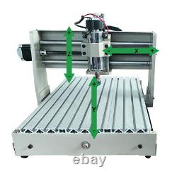 USB 4 Axis CNC 3040 Router Engraver Metal Milling Cutter Machine 400W + RC NEW