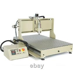 USB 4 Axis CNC 6090 2200W Router Engraving Milling Machine Cutting Wood Metal