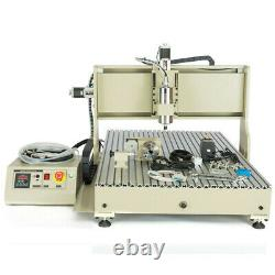USB 4 Axis CNC 6090 Router Milling Engraving DIY Cutter Machine 1150970650mm