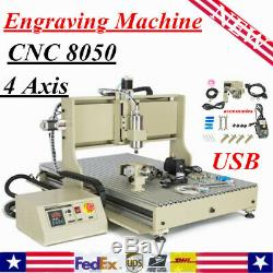 USB 4 Axis CNC 8050 Router Engraver Milling drilling Machine Engraving Woodwork