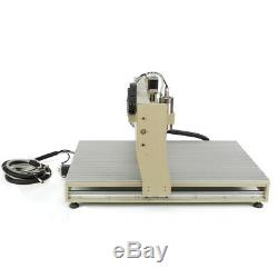 USB 4 Axis CNC Router 6090 Engraver Wood Drill/Milling Machine 1.5KW+Handwheel