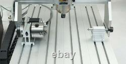 USB! 4 axis 8060 2200W cnc router engraving milling cutting machine engraver