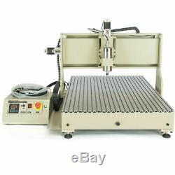 USB 4AXIS CNC Router 6090 Engraver Machine Drill Milling DIY 3D Mental work
