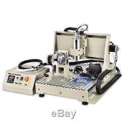 USB 4Axis 1.5KW 6040 Router 3D Engraver Metal Engraving Milling Machine Cutter
