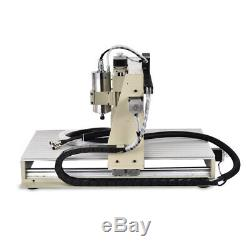 USB 4Axis 6040Z CNC Router Engraving Machine Metal Mill Cutting 1.5KW 24000 rpm