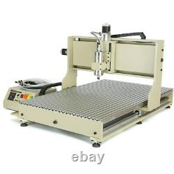 USB 4Axis 6090 CNC Router Engraving Machine VFD 3D Metal Milling Drilling 1500W