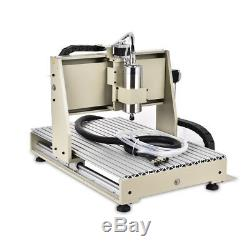 USB 4axis 1.5KW CNC 6040 Router 3D Engraver metal Engraving Drill Mill Machine