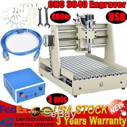 USB CNC 3 Axis 3040 Router Engraver Engraving Milling Drilling Machine 400W