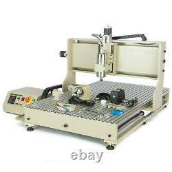 USB CNC 4Axis 6090 Router Engraver 3D Milling Engraving Cutting Machine+RC 1.5KW