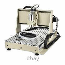 USB CNC 6040Z Router Engraving 4AXIS Metal wood Drill Milling Machine 1.5KW +RC