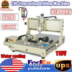 USB CNC 6090 4 Axis Router Milling Engraving Engraver 3D Cutting Machine+Remote