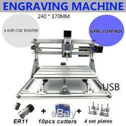 USB CNC 6090 Router 4Axis Mill Drill Engraving Machine 1.5KWith2.2KW +mini 2417+RC