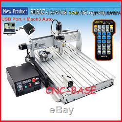 USB four 4 axis 8060 1500W cnc router engraver wood engraving milling machine