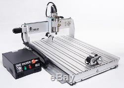 USB four 4 axis 8060 2200W cnc router engraver engraving milling machine + mach3