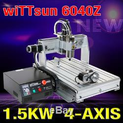 USB four 4axis 6040 1500W cnc router engraver engraving milling drilling machine