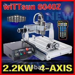USB port 4 axis 6040 2200W cnc router engraver engraving milling carving machine