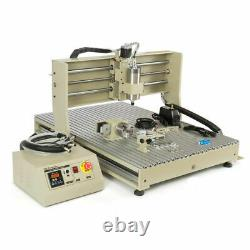 USB-style 4Axis Engraver Machine CNC 6090 Router Wood Mill + Remote Controller