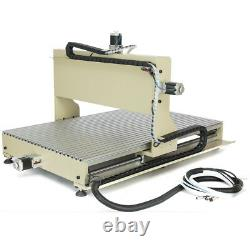 USED 4 Axis CNC 6090 Router Engraver 2200W VFD 3D Engraving Milling Machine USB