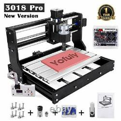 Upgraded CNC 3018 Pro GRBL Control Engraving Machine 3 Axis PCB Milling Carvi