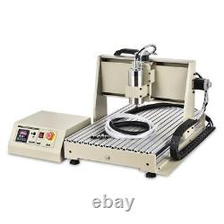 Usb 4axis Cnc 6040 Router Engraver Engraving Woodwork Cutting Milling Machine Us