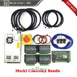 WorkBee CNC Router Machine Full Kit 10001000mm 4 Axis Engraver Mach3 2.2KW Mill